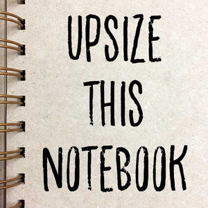 Notebook Upsize - extra pages