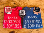 Beers, Backroads & Bonfires (S-XL)