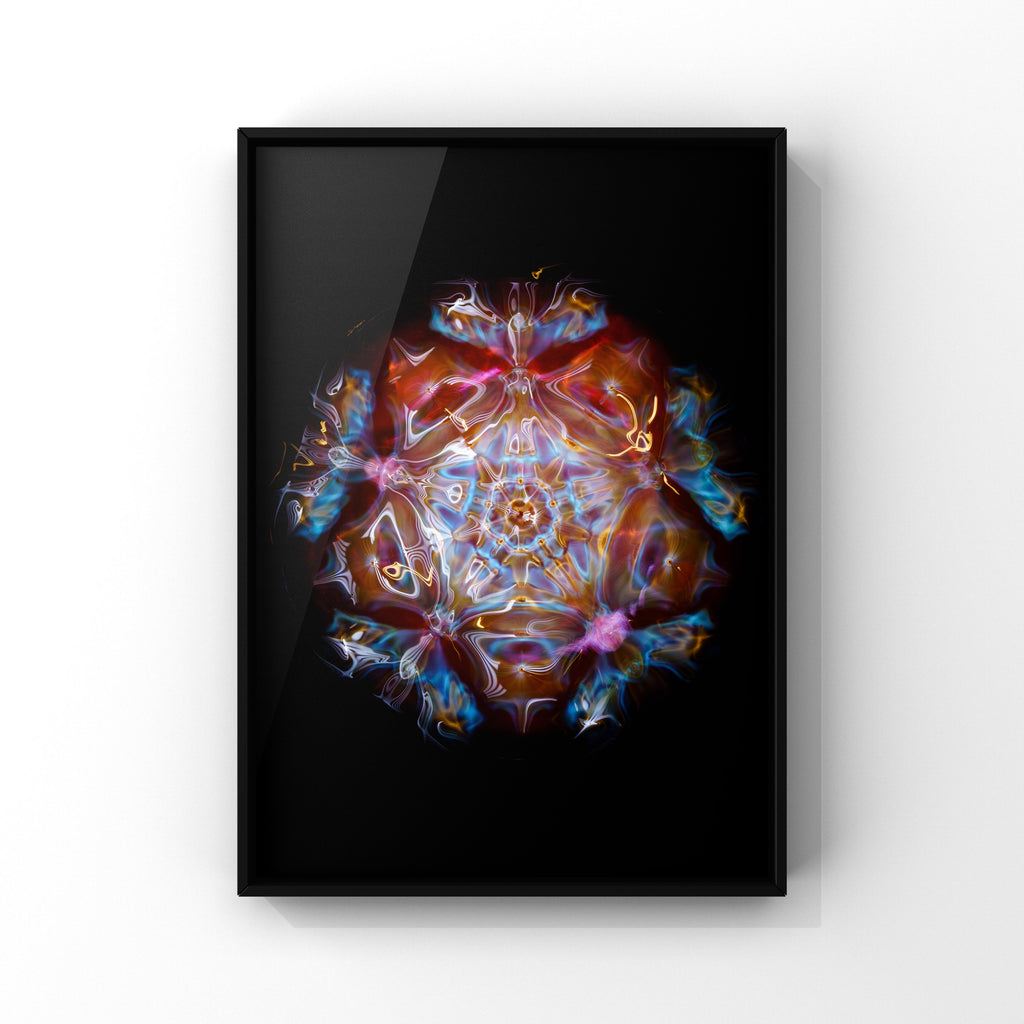 cymatics photo visible sound frequency note G A3 print cymatics visible sound photography art print by Jacob Lee Adlington, journey of curiosity