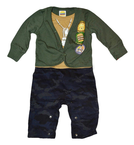 Boys Black Pants + Green Sweater Set