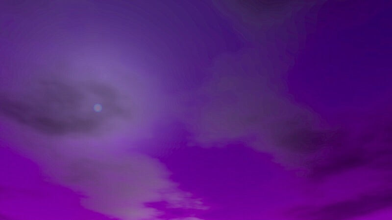 Purple Clouds - Art Print