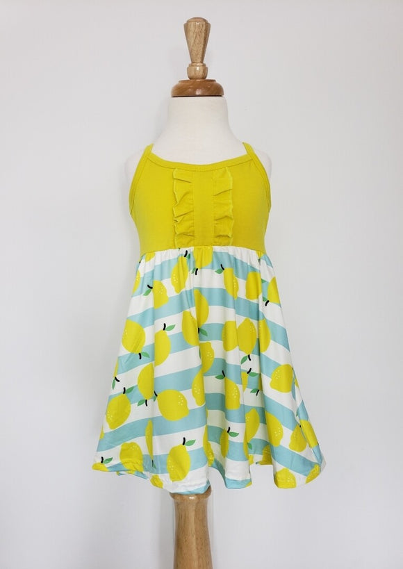 Lemon strapless dress
