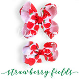 Strawberry bow (choose size)