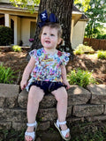 Navy Mila shorties