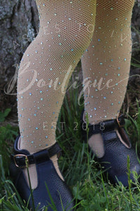 Nude bling tights