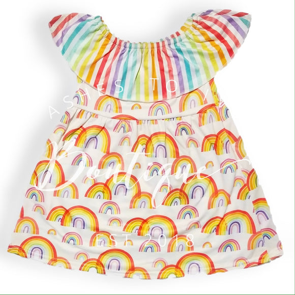 Rainbows & stripes dress