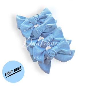 Light blue fabric bow