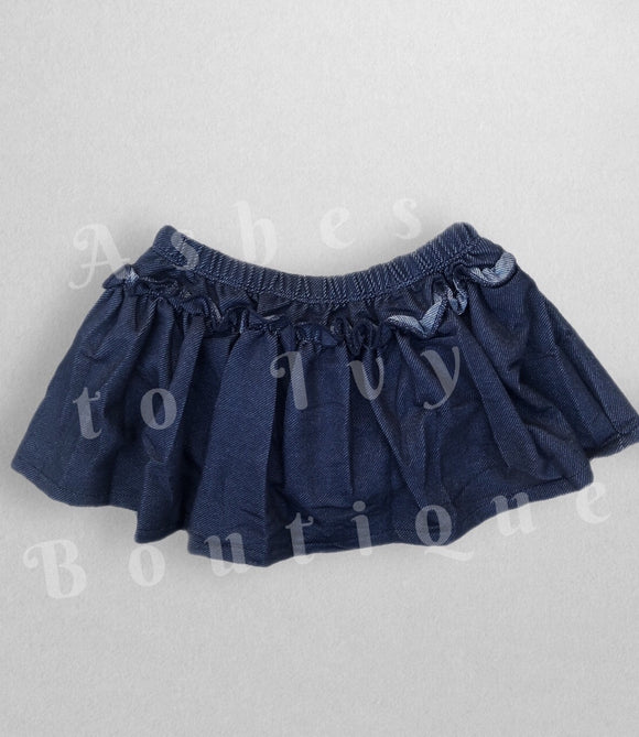 Dark denim skirted bloomer