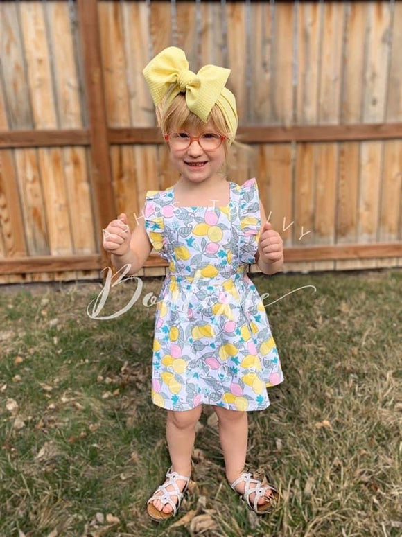 RuffleButts lemonade dress