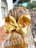 Gold sparkle bow (choose size)