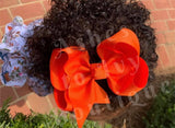 Vivid orange bow (choose size)