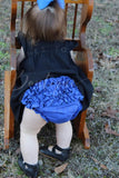 Solid ruffle bloomers (choose size & color)