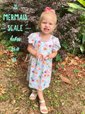 Mermaid scale dress