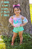 Mermaid OTS romper w/straps