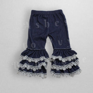 Lace denim bells