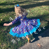 April showers twirl dress (read description)