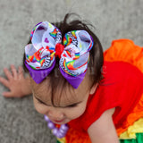 Tasty Rainbow bow (choose size)