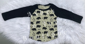 Boy's bear raglan