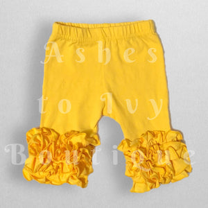 Golden yellow Roxie capri