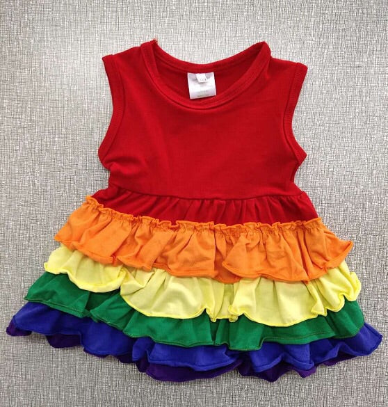 """Flawed"" rainbow dress"