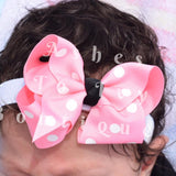 Pink polka dot Minnie inspired bows (choose size)