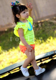 Neon orange Mila shortie