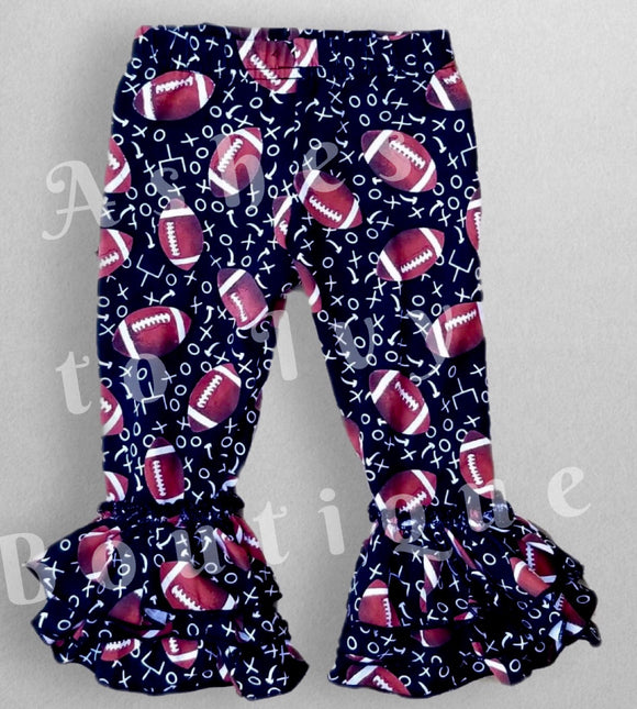 Football time bell pants