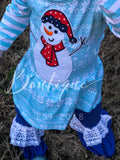 Striped snowman tunic