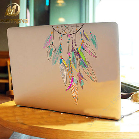 Mimiatrend Dreamcatcher Wind Chimes Indian Feather Vinyl Decal Laptop Stickers For Apple Macbook Pro Air 11 13 15 inch