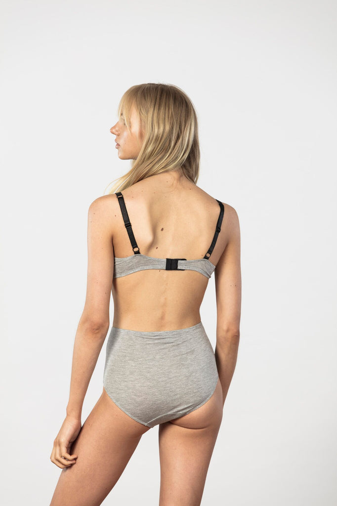 NICO - HIGH WAISTED BRIEF - GREY
