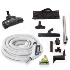 35' Prolux Premium Central Vacuum Hose Kit with Turbo Nozzles & 1 YR warranty by Prolux
