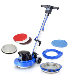 Prolux Core Heavy Duty Commercial Polisher Floor Buffer Machine Scrubber and 5 Pads