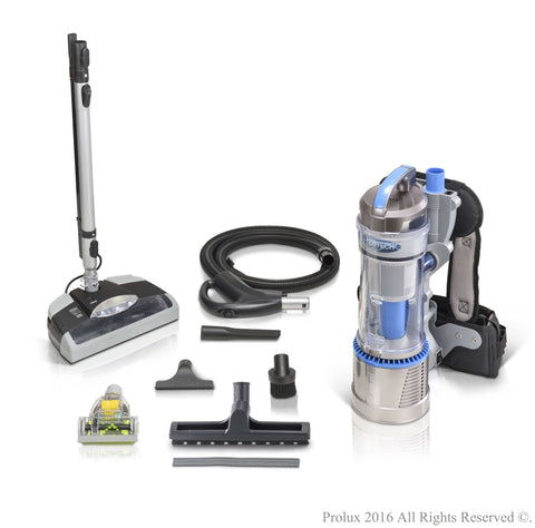 Demo Model Prolux 2.0 Bagless Backpack Vacuum with Electric Power Nozzle Kit
