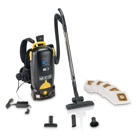 Prolux 8qt 1hr Lithium Battery Powered Backpack Vacuum with 2 Year Warranty