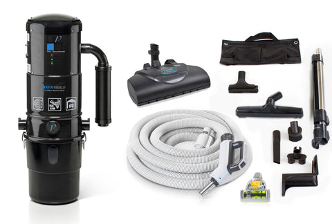Prolux CV12000 Central Vacuum Unit System with Prolux Electric Hose Power Nozzle Kit and 25 Year Warranty