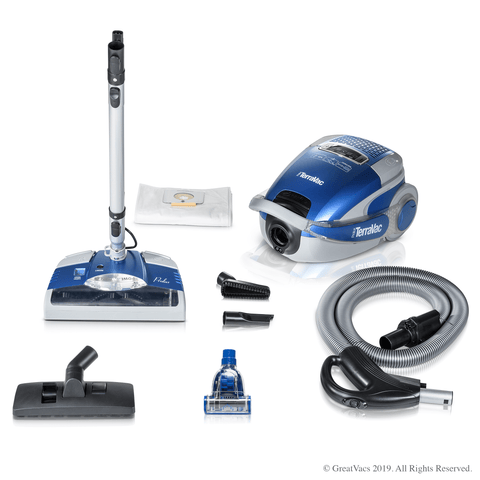 Quiet 5 Speed Prolux TerraVac Vacuum Cleaner with Sealed HEPA Filter