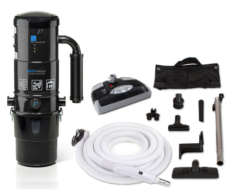 Prolux CV12000 Central Vacuum Unit System with Electric Hose Power Nozzle Kit and 25 Year Warranty!
