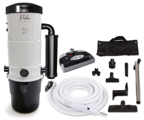 Prolux Central Vacuum Unit System with Electric Hose Kit and 3 inlet kit with 25 Year Warranty