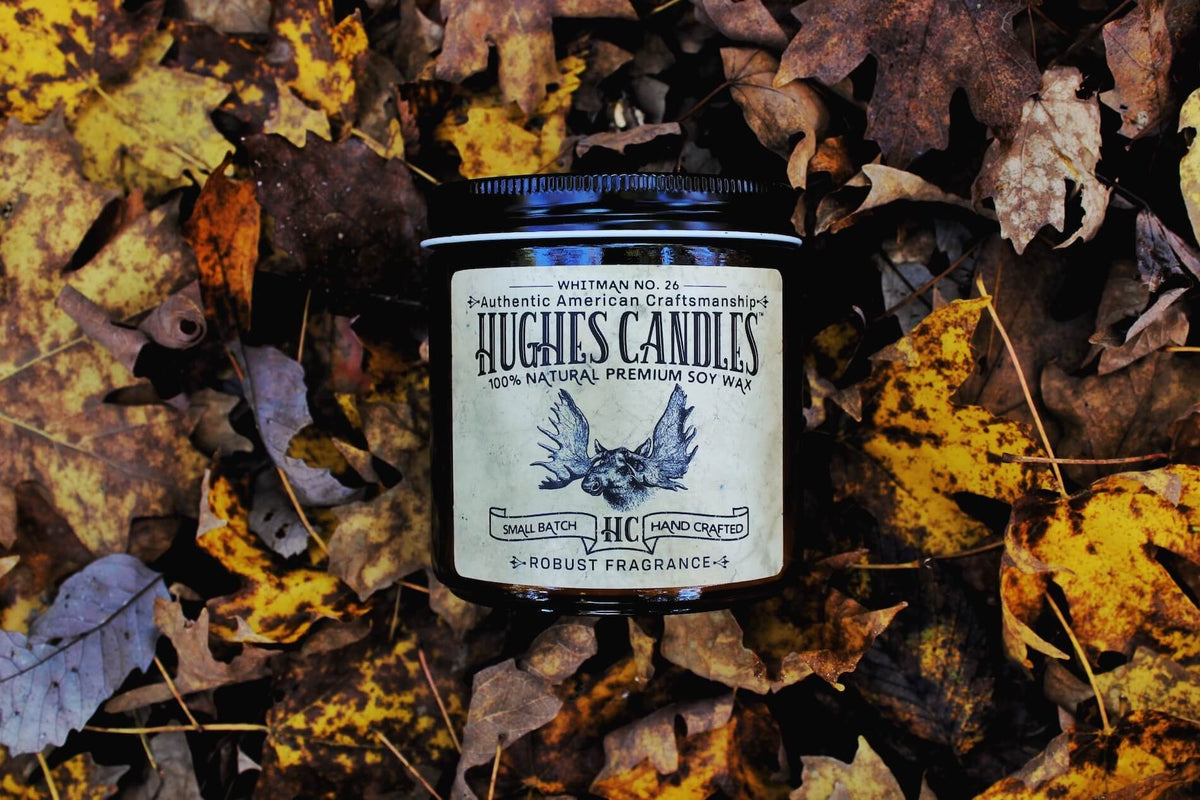 Hughes Candle woodwick soy candle Whitman