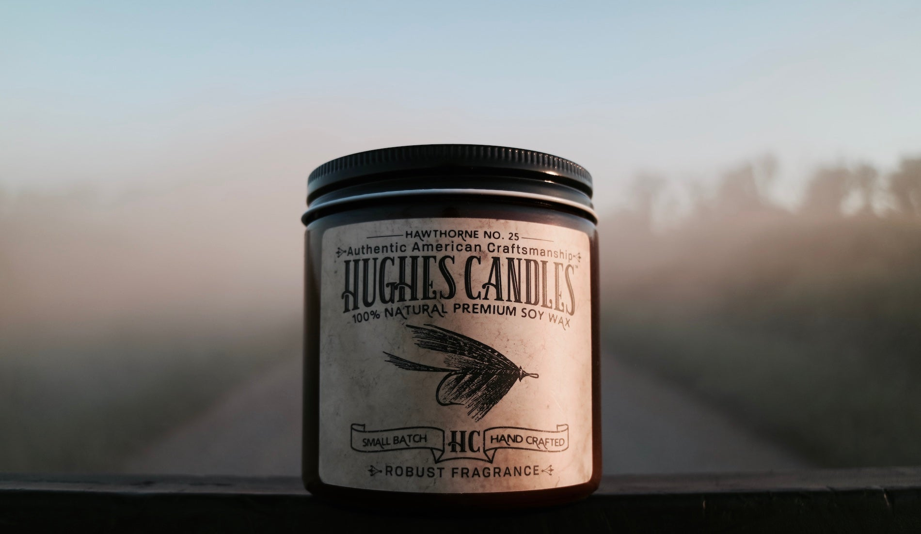 Hughes Candles Wood wick Soy Candles