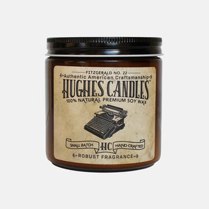 Hughes Candles Fitzgerald all natural wood wick soy candle