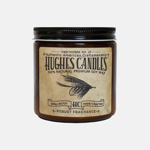 Hughes Candles Hawthorne all natural wood wick soy candle