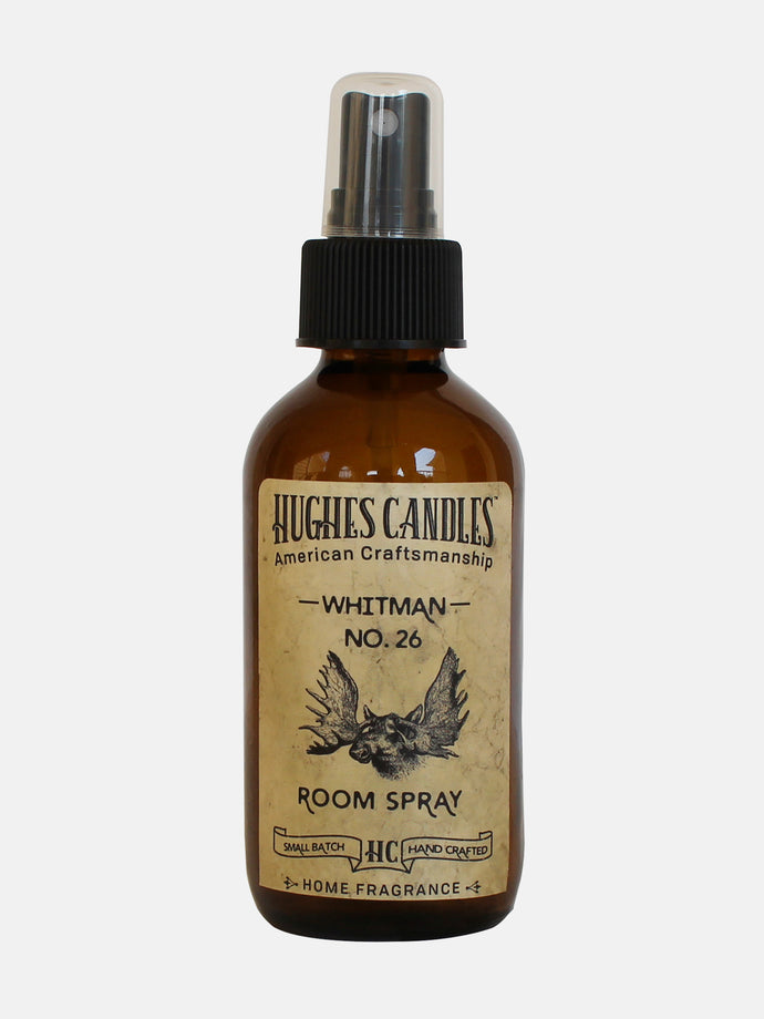 Hughes Candles NO. 26 Whitman All Natural Room Spray