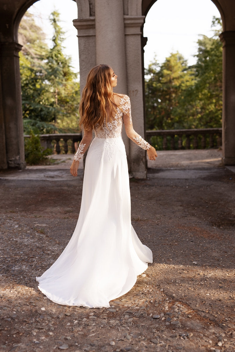 long sleeve wedding dress boho | BONITA