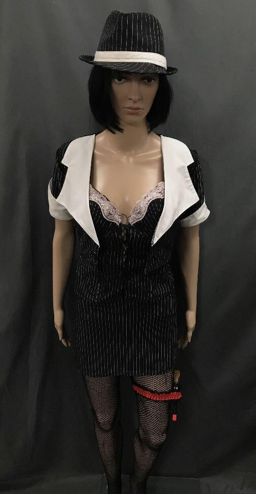 1920's Gangster Moll with Corset, Bolero and Short Skirt - Hire - The Costume Company | Fancy Dress Costumes Hire and Purchase Brisbane and Australia