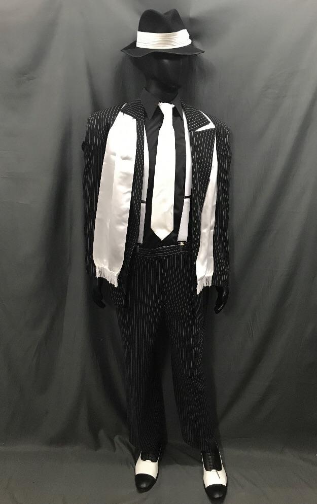 1920s Gangster Pinstripe Suit White - Hire - The Costume Company | Fancy Dress Costumes Hire and Purchase Brisbane and Australia