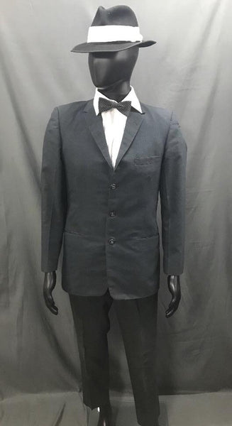 1920s Gangster Suit Black and White - Hire - The Costume Company | Fancy Dress Costumes Hire and Purchase Brisbane and Australia