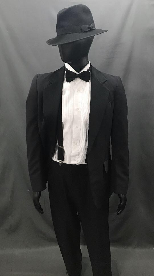 1920s Gangster Suit Black - Hire - The Costume Company | Fancy Dress Costumes Hire and Purchase Brisbane and Australia