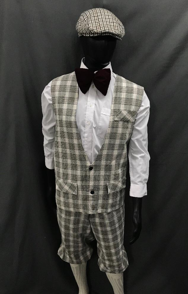 1920s Golfer Light Brown Check - Hire - The Costume Company | Fancy Dress Costumes Hire and Purchase Brisbane and Australia