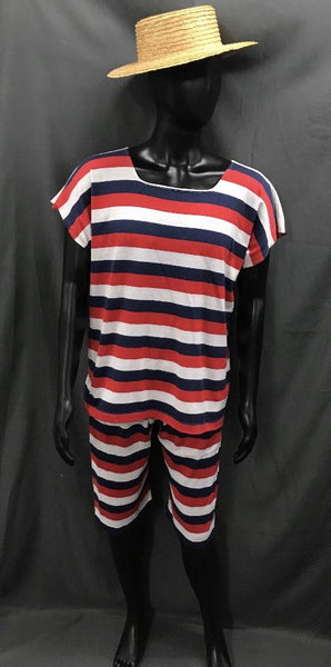 1920s Simmers Red, Blue and White Stripe with Boater Hat - Hire - The Costume Company | Fancy Dress Costumes Hire and Purchase Brisbane and Australia
